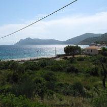 Blick nach Südkalamos und zum Agrapidia-Strand