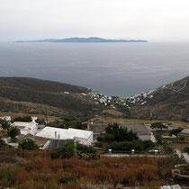 Blick nach Ormos Isternion und Syros