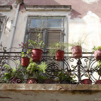 Kreta: Balkon in Chania