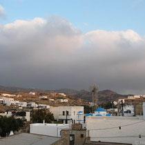 Wolken über Chorio