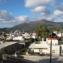 Zaros, Blick von der Terrasse