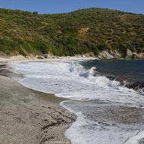 Der Strand von Cheromylos