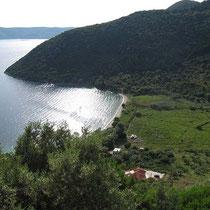 Die Bucht von Polis bei Stavros
