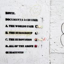 Straßenkunst ist origineller