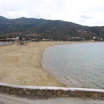 Der Milopotas-Strand