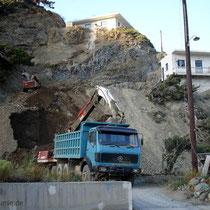 Karpathos: Gefährliche Bauarbeiten