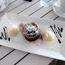 Schokoladensoufflé mit Eis - mhhh!