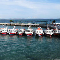 Taxiboot-Anleger im Dapia-Hafen