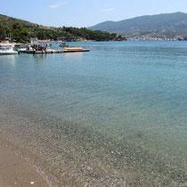 Die Bucht von megalo Chorio