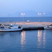 Kasos: Hafen am Abend