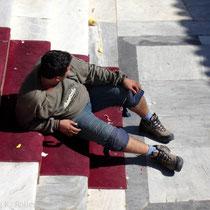 Tinos: Pause kurz vor dem Ziel