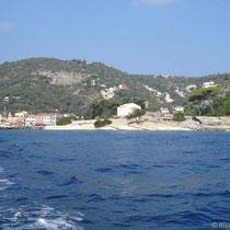 Östliche Hafeneinfahrt von Gaios