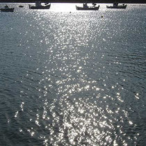 Bötchen im Silbermeer