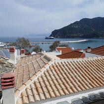 Blick von der Dachterrasse ....