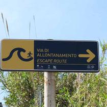Fluchtweg im Tsunami-Fall