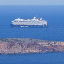 .. mit Kreuzfahrtschiff