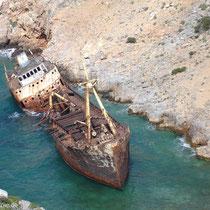 "Amorgos: Wrack der ""Olympia"" bei Liveros"