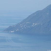 Die Hauptsiedlungen von Alicudi