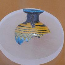 Vasenfragment im archäologischen Museum