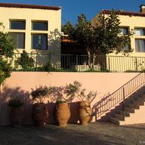 Die Nana-Apartments von unten.