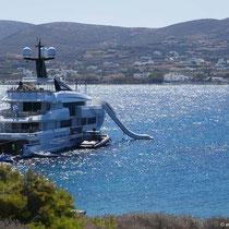 ... mit fetter Yacht