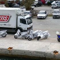 Neue Motorroller für Skopelos