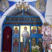 Karpathos: In einer Kapelle bei Olymbos