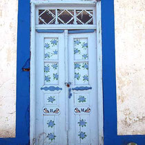Bemalte Tür