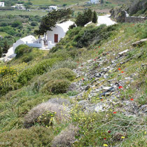 Amorgos: Doppelkapelle am Weg nach Minoa