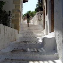 Schon unten Treppen