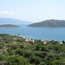 Panorama mit dem Inselchen Provati