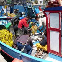 Leros: Fischer in Panteli