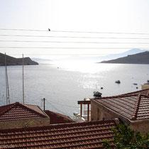 Chalki: Blick von unserer Terrasse