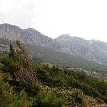 Bergkette über Messochori
