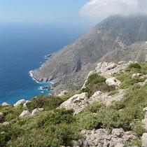 Steile Küste