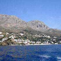 Telendos: Blick auf Kalymnos