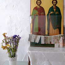 In einer Kapelle in Naxos-Stadt