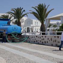 Der Wasserwagen im Einsatz