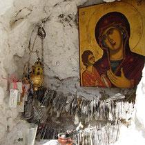 Ikone vor dem Kloster...