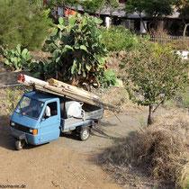 Ein überlanger Lasttransport...