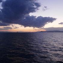 Sonnenuntergang im saronischen Golf