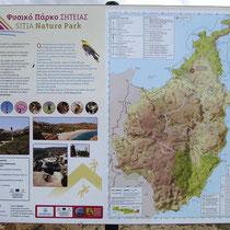 Übersichtstafel Naturpark Sitia