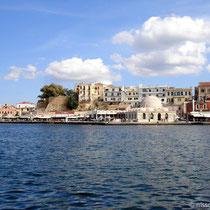 Kreta: Am venezianische Hafen von Chania - Hassan-Pascha-Moschee