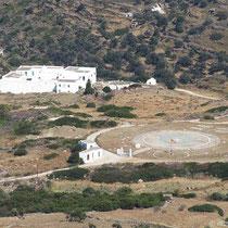 Kloster Vrissi samt Heliport