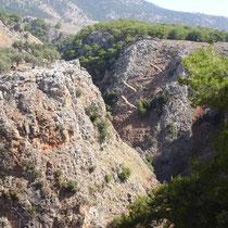 Kreta: Blick in die Aradena-Schlucht