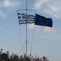Ja ja, die EU - bei dem vielen Geld kann man shcon mal Flagge zeigen