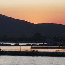 Der Sonnenuntergnag in Karystos