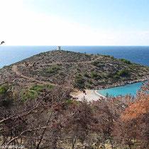 Trachili-Halbinsel mit Strand