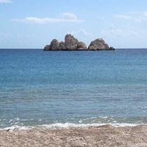 Agios Georgios heißt auch der Felsen