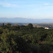 Blick übers Land bis zur Peloponnes